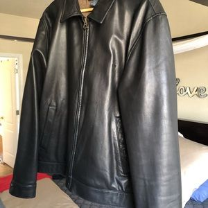 Polo by Ralph Lauren mens lambskin leather jacket